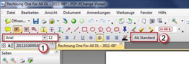 Pdf Xchange Viewer Schreibmaschine Schriftart ändern